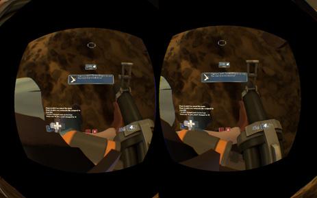 Экран один, но изображение для каждого глаза свое